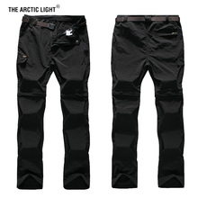 купить THE ARCTIC LIGHT Breathable Removable Waterproof Hiking Pants Men Quick Dry Trousers Outdoor Trekking Climbing Pants Shorts 7XL дешево