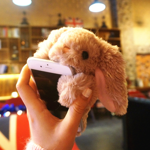 Image 3 - Rabbit Hair Fur Case For Samsung S20 Ultra S10 5G S9 S8Plus S7 S6 Cute Warm Fluffy Cover Phone Case For Galaxy Note 20 10 9 8