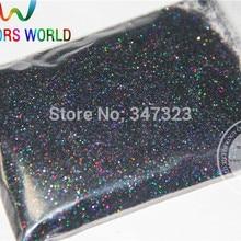 0,4 мм Лазерная черная голографическая Блестки для ногтей инструменты или другие художественные украшения блестки