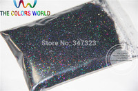 0 4MM Laser Black Color Holographic Glitter Dust Nail Tools Or Other Art Decoration Sequins1Pack 50g