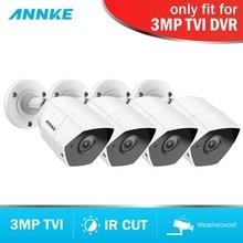 ANNKE HD 3MP TVI 4PCS Weatherproof Camera Set CCTV Surveillance Video Camera System Kit Super Night Vision IR Cut For TVI DVR