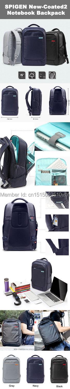 d609c41aca SPIGEN New Coated 2 Notebook Laptop Backpack   Black   Navy   Grey ...