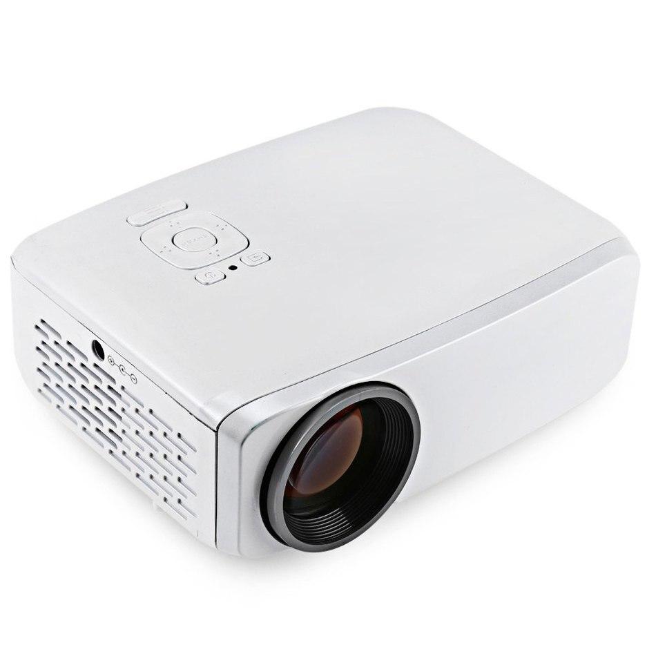 GP9S LCD Projector 800 Lumens 800 x 480 Pixels VGA / USB / HDMI / SD Card Interface Support HD 1080P Audio Player EU/US Plug