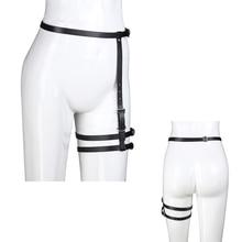 Leather Bondage Chastity Belt Thigh Belt Waist Body Harness Leg Harajuku Bdsm Cosplay Restraint Sexy Slave Adjustable Sex Toys все цены