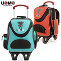 UNME brand trolley schoolbag boys and girls school trolley bags detachable backpack with wheels