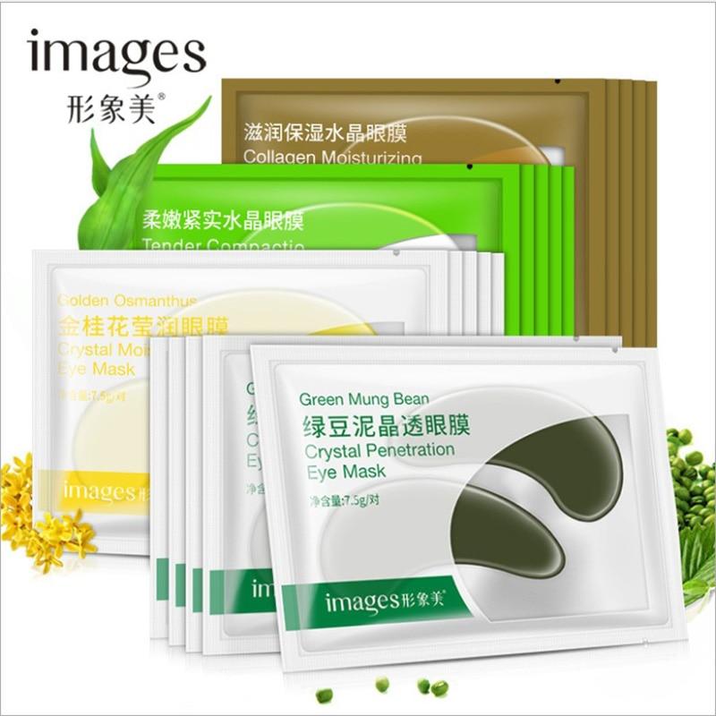 Eye Mask Crystal Collagen Moisturizing Eye Face T Facial Mask Dark Circle Eye Bag Anti-Aging Wrinkle Firming Skin Care