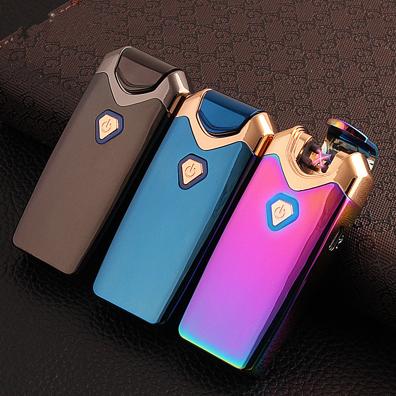 ٩(^‿^)۶Usb Charge Arc Lighter USB Windproof Personality Electronic ...