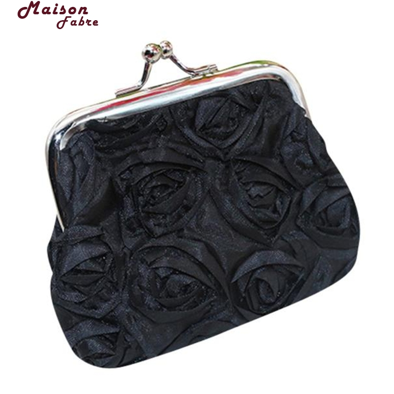 Maison Fabre Coin Purse Women Womens Rose Flower Small Wallet Coin Purse Clutch Handbag Bag Coin Purse Small