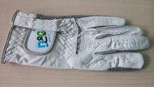 B&G branded white genuine leather golf gloves