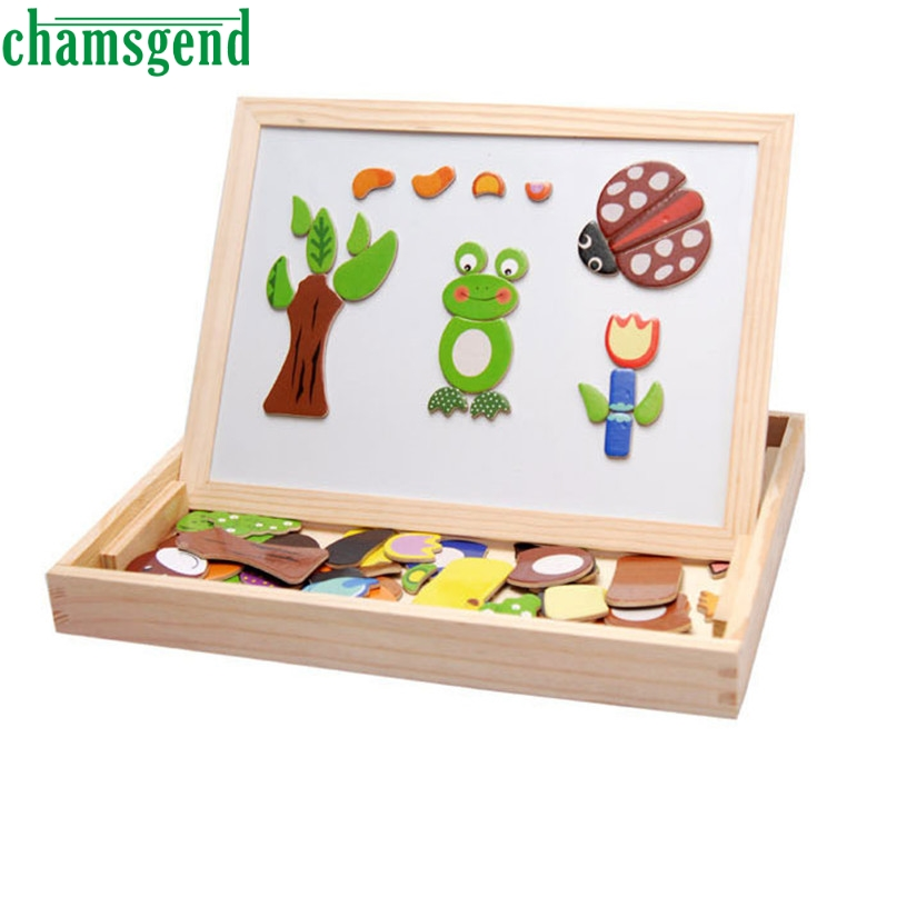 3d cartoon drawing board popular wooden magnetic puzzle toys board buy cheap wooden