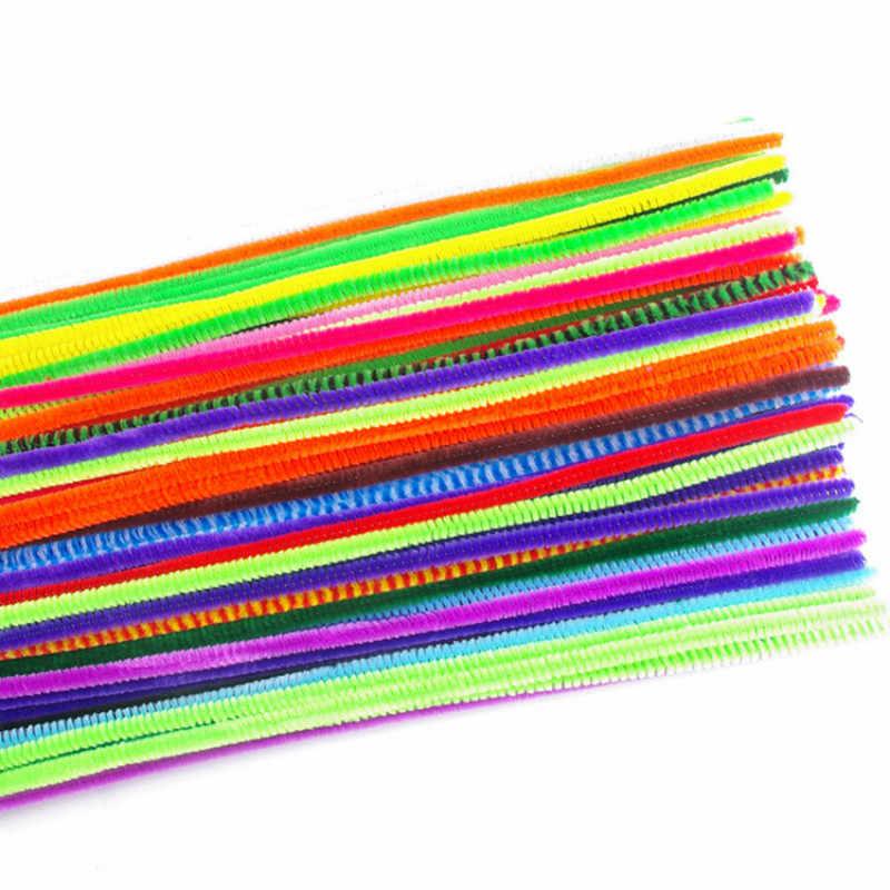 Baru 100 pcs/lot Mix Warna Diy Mewah Berwarna Rambut Akar Bengkok Tongkat Grosir Pendidikan Handmade Bahan Diy
