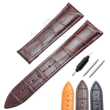 Genuine Leather Watch Band Strap For Omega 20mm 22mm Black Brown High Quality Replacement Watchbands Belt Bracelet watch band for omega alligator leather strap for de ville for aqua terra croc watches straps for men 19 20mm black bracelet belt