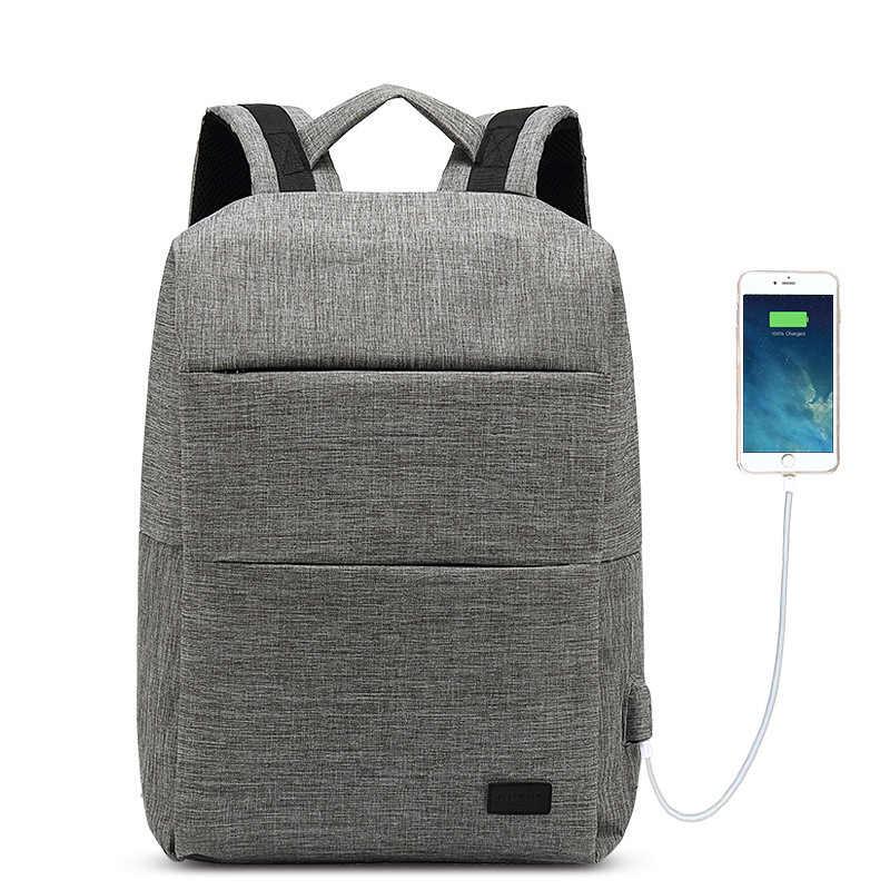 Мужской рюкзак для ноутбука, usb-зарядка, Компьютерные рюкзаки, повседневные стильные сумки, большая мужская деловая дорожная сумка, рюкзак для школьников и студентов