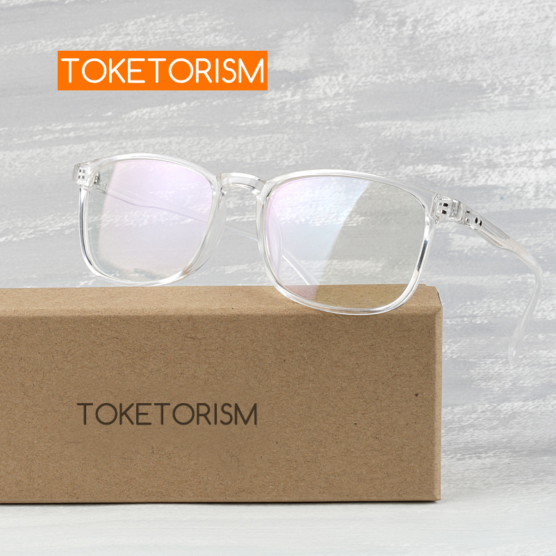 Toketorism Vintage Optical Glasses Woman Eye Glasses Frames For Men Transparent Glasses Clear Lenses 7242