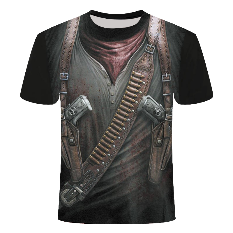 Men/'s Funny Skull 3D Print T-Shirt Motorcycle Casual Short Sleeve Top summer Tee