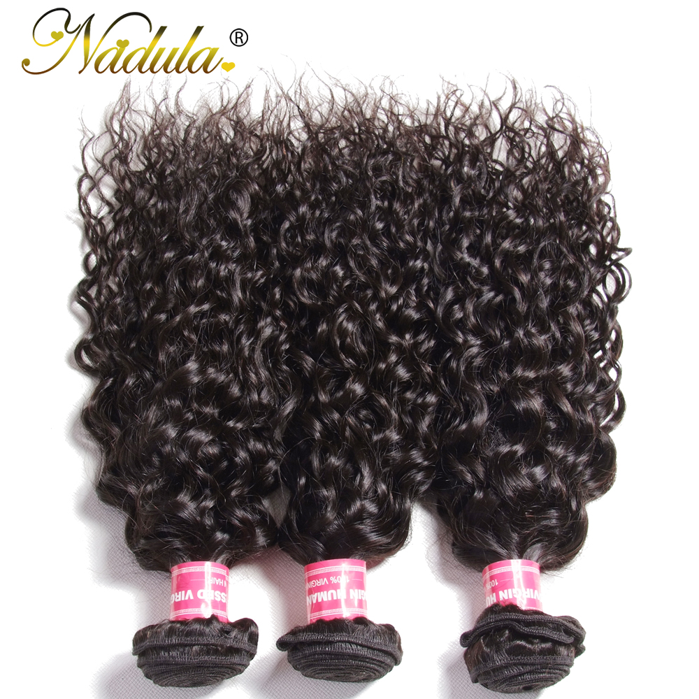 Nadula Hair 3piece  Water Wave Bundles 8-26inch  s Natural Color  3