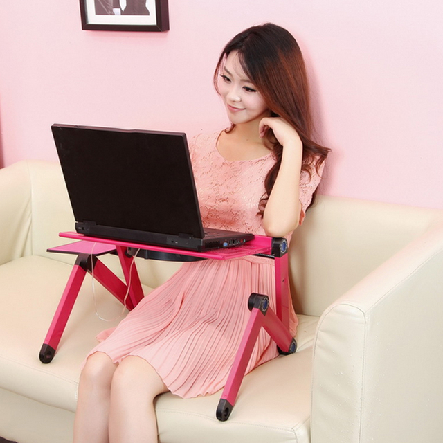High Quality Portable foldable adjustable folding table for Laptop Desk Computer Desk mesa para notebook Stand Tray For Sofa Bed