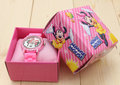 fashion minnie mouse girls Ladies women crystal Watch kids children cartoon silicone sport box watch