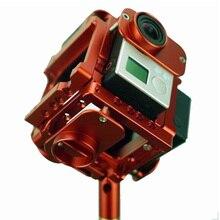 ประกอบGopro HDฮีโร่3 + 4เต็มยิงกรณีA Lu 360องศาทรงกลมพาโนรามากรอบเมาVRวิดีโอภูเขาสำหรับถ่ายภาพทางอากาศ