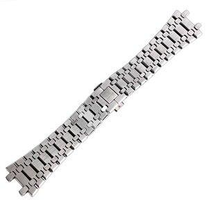 Image 3 - 28mm bilek bandı kayışı katı bağlantı paslanmaz çelik bilezik gümüş AP İzle basma düğmesi değiştirme erkekler + 2 bahar çubukları