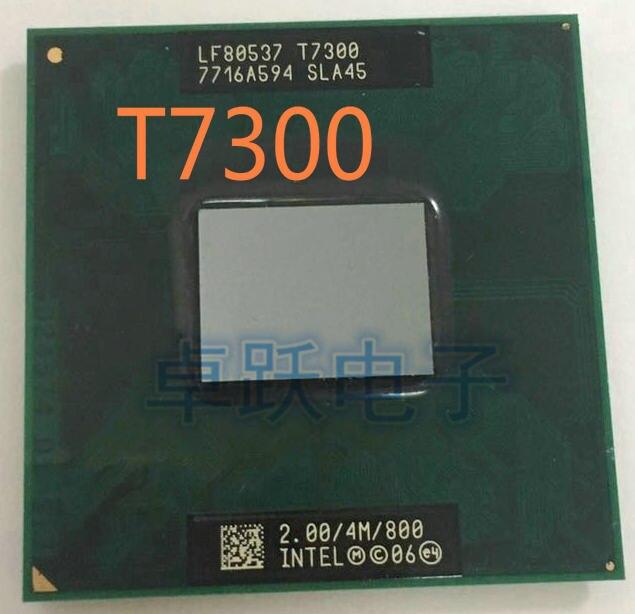 Intel Core 2 Duo T7300 mobile 2.00GHz 4M 800MHz SLA45 Laptop CPU Processor