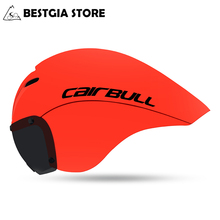 CAIRBULL New VICTOR Cycling Helmet Magnetic Goggles Road Bike Triathlon Time Trial Pneumatic TT Bicycle Cap