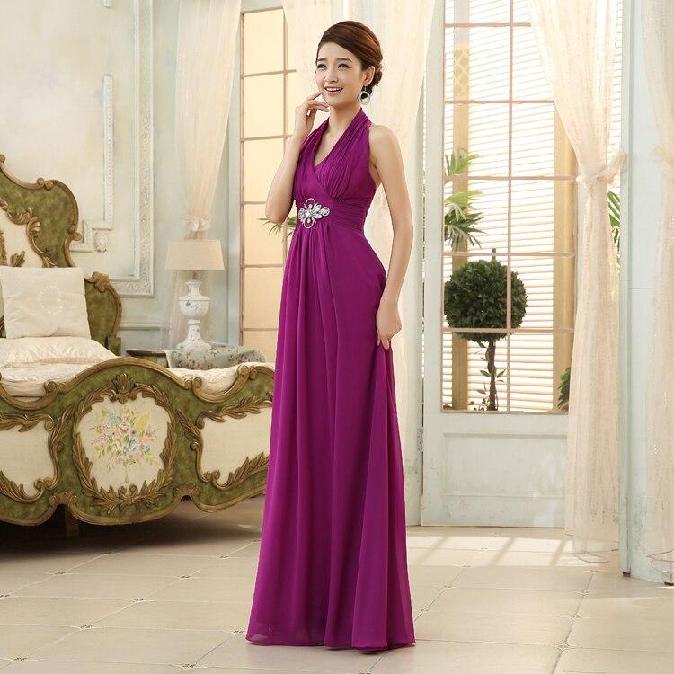 LF 3058 Size 4 16 Halter Long Chiffon Prom Party Dress ...
