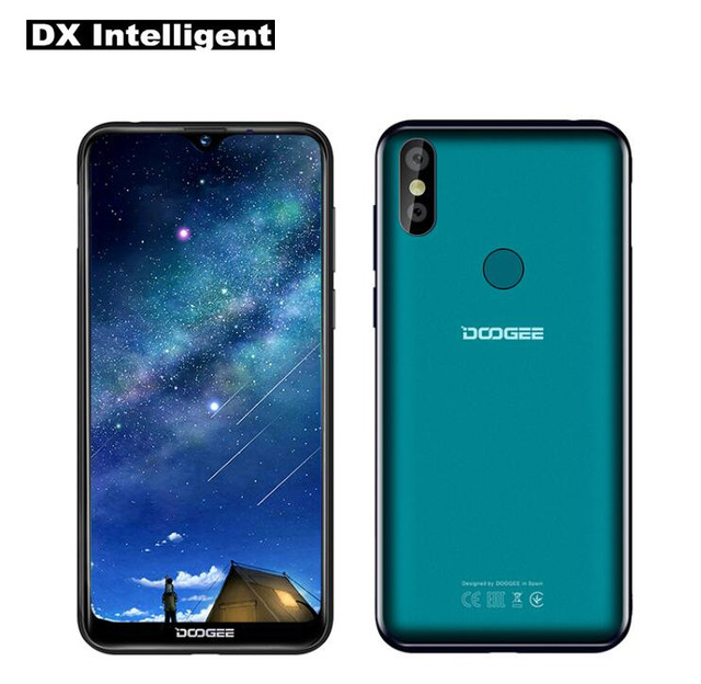 """DOOGEE Y8 6.1"""" 19:9 Waterdrop Screen MTK6739 Quad Core 4G Mobile Phone 3GB+16GB 8MP Dual Camera Android 9.0 Face Unlock 3400mAh"""