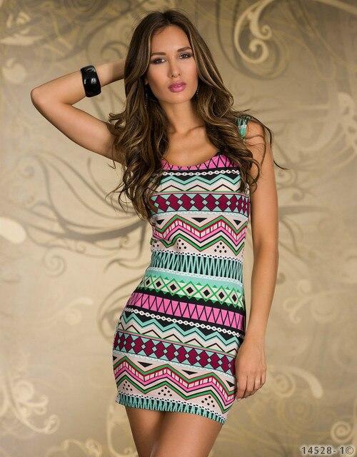 tropical Women Dresses New fashion 2015 spring Mini vestidos de festa luxury totem print Sexy roupas party chic plus size