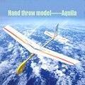 Бесплатная Доставка Aquila Рука бросок модель Eagle Планер модель самолета DIY самолет модель Сборки головоломки Игрушки детям подарок
