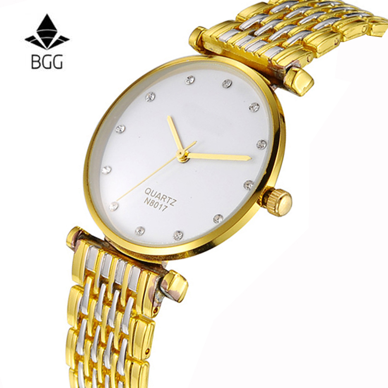 2017 BGG Top Brand Luxury Men Watch Super Thin Quartz Watches Business Dress Waterproof male Watches relogio masculino clock