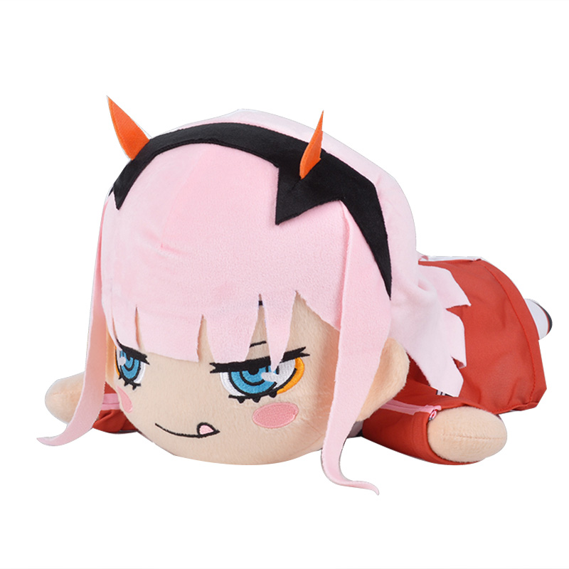 ZHAIDIANSHE anime High quality ZERO TWO 02 lovely toy plush DARLING in the FRANXX pillow lovely gift for girls new zero two cosplay costumes 002 darling in the franxx dyesub printed zentai bodysuit women girls lady lycra female plugsuit
