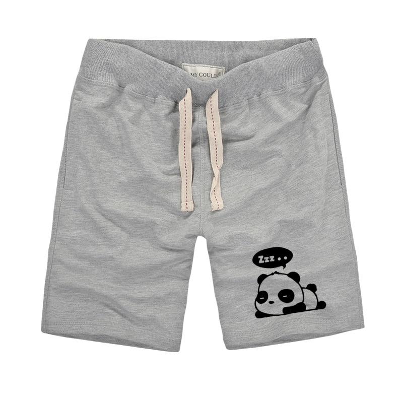 Harajuku Styles Unisex Cute Panda Impreso Pantalones cortos para - Ropa de hombre - foto 2