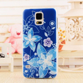 3d alívio patinted flower design rígido telefone case capa voltar para samsung galaxy s5