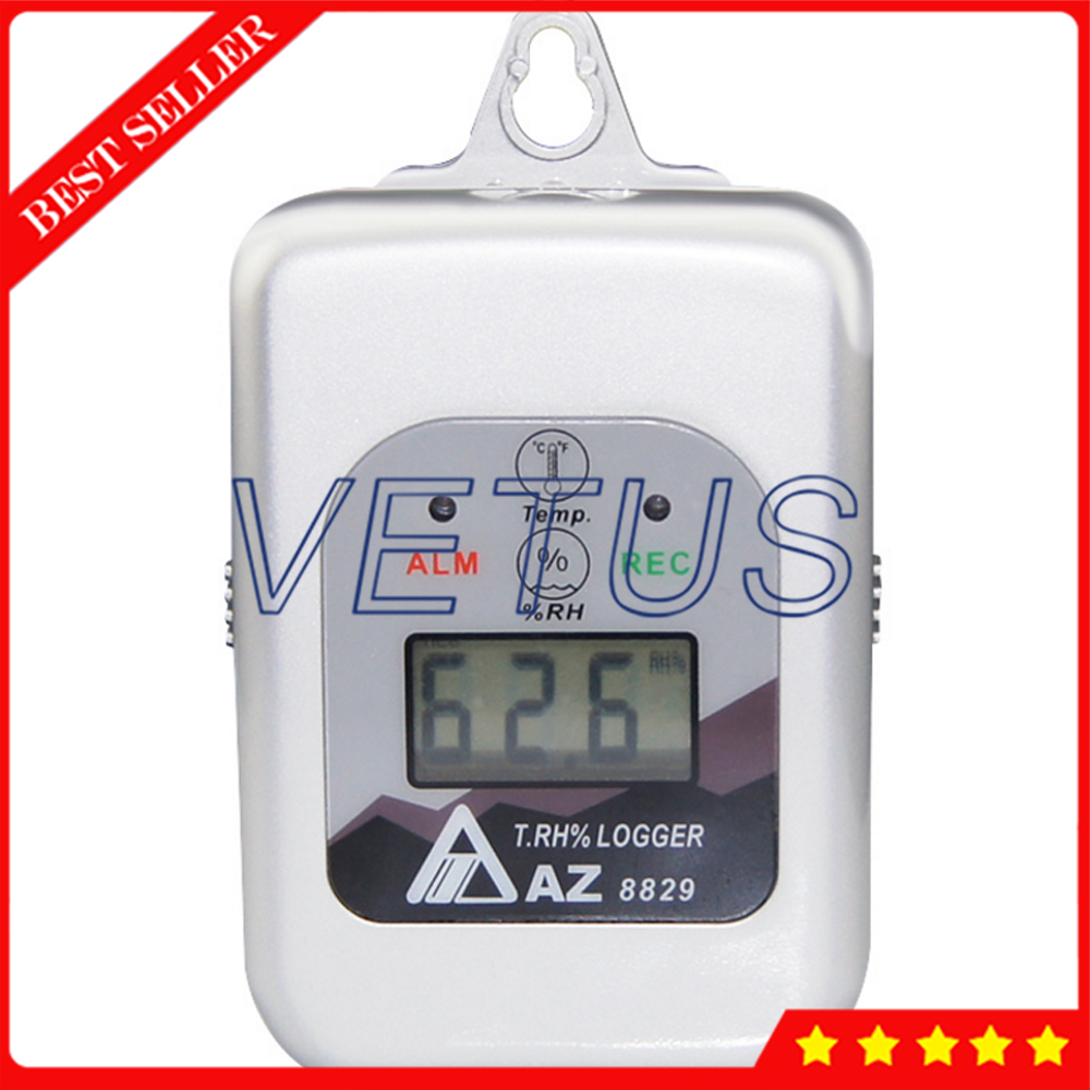 AZ8829 Digital Temperature and humidity Datalogger Data Recorder Thermometer Detector az 7788 desktop co2 temperature humidity monitor data logger air quality detector