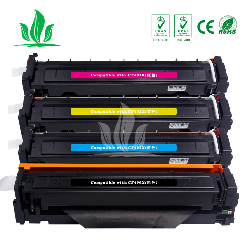 CF400X 400x CF401X CF402X CF403X <font><b>Toner</b></font> Cartridge Compatible for <font><b>HP</b></font> Color LaserJet Pro M252dw/M252n MFP <font><b>M277DW</b></font> laser <font><b>printer</b></font> image