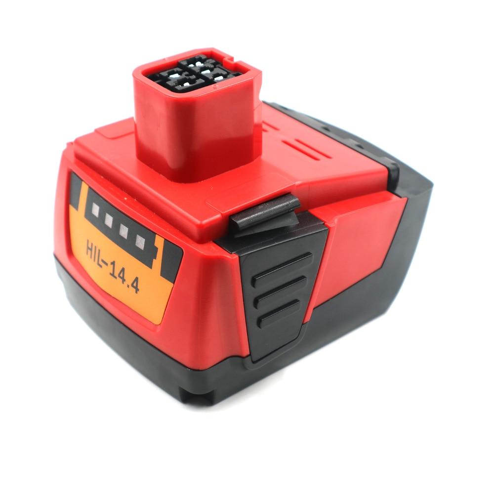 Batterie d'outil électrique pour Hil 14.4VA 3000 mAh, 4000 mah, Li-ion, B14, B144, SF144-A, CPC14.4V, SFH 144-A, SIW 144-A, SID 144-A, SFL lampe de poche