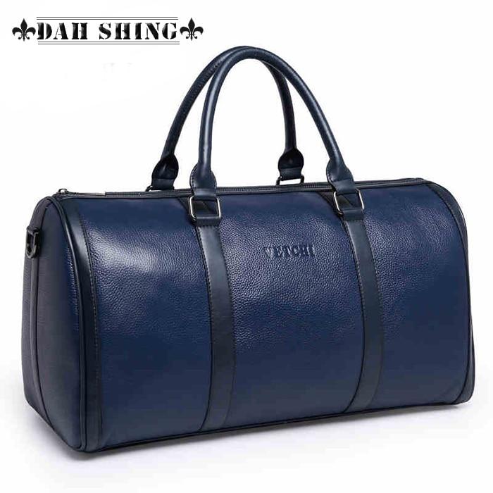 Us 198 0 Solid Colors Crocodile Skin Pattern Large 100 Genuine Leather Cowhide Weekend Bag For Men S Travel Bags Luggage Duffle 47 25cm In