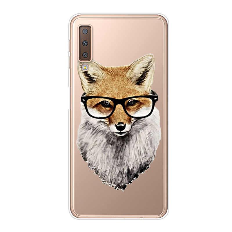 Dành cho Samsung A7 2018 Ốp Lưng Mềm Mại Trong Suốt Ốp Lưng Silicone In Ốp Lưng Điện thoại Samsung Galaxy A7 2018 7 a750F A750 SM-A750F Ốp Lưng