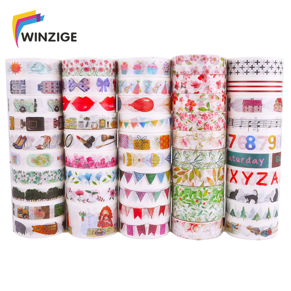 Winzige 15mm*3m Washi Tape DIY Planner Decorative Masking Tape Stickers Scrapbooking Bullet Journal Stickers Cute Stationery washi tape set 19 anchor sea nautical ocean sailor naval sailing stationery planner supply journal decorative masking gift wrap