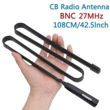 Abbree antena tática 27 mhz 72/108 cm cb rádio portátil com conector bnc para cobra midland uniden anytone rádio cb