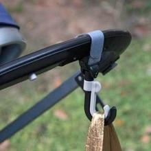 2Pcs/set Baby Stroller Hook  Heavy Load Hook Stroller Accessories  Double Rotate Antislip Strip Hooks Prams Hook Hanger