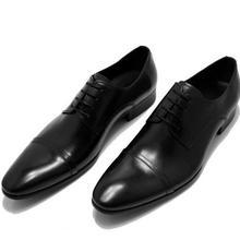Мужские кожаные туфли ручной работы в британском стиле с острым носком и ремешком; мужские туфли в деловом стиле