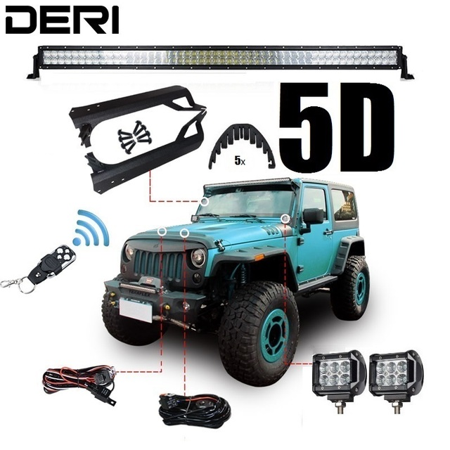 5d 50 288w offroad dual row straight combo led work light bar for 5d 50 288w offroad dual row straight combo led work light bar for jeep wrangler aloadofball Images