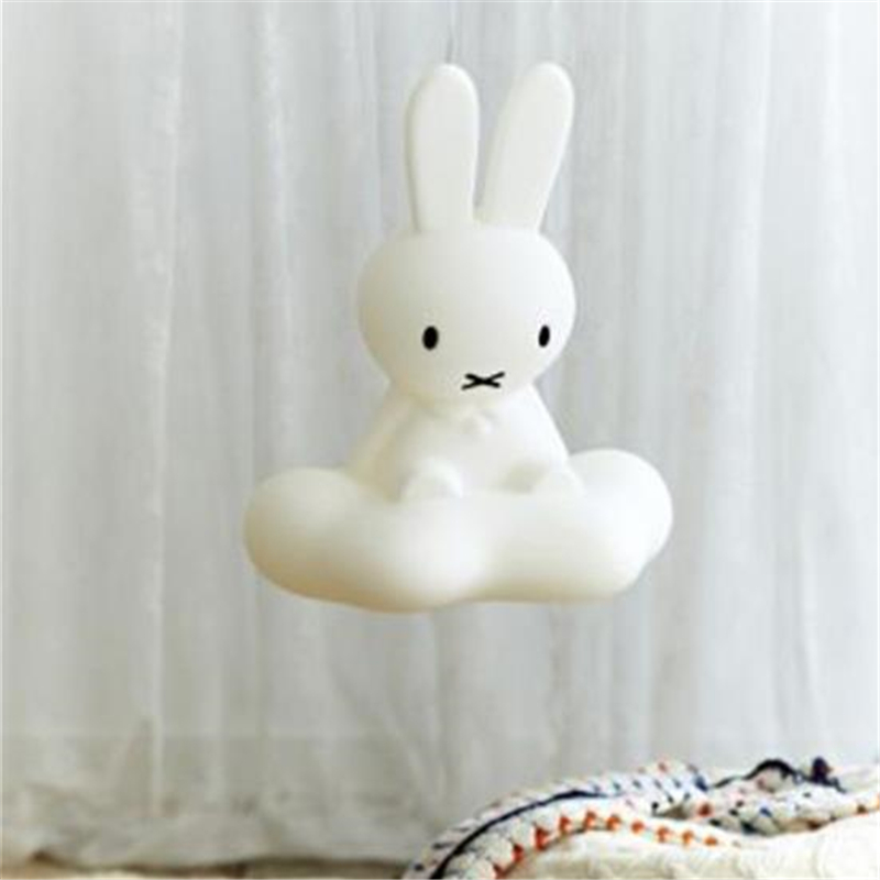 Ins Hot Creative LED Rabbit Lamp Children Bed Pendant Lamp Baby Bedroom LED Night Light for Kids Gift yimia creative 4 colors remote control led night lights hourglass night light wall lamp chandelier lights children baby s gifts