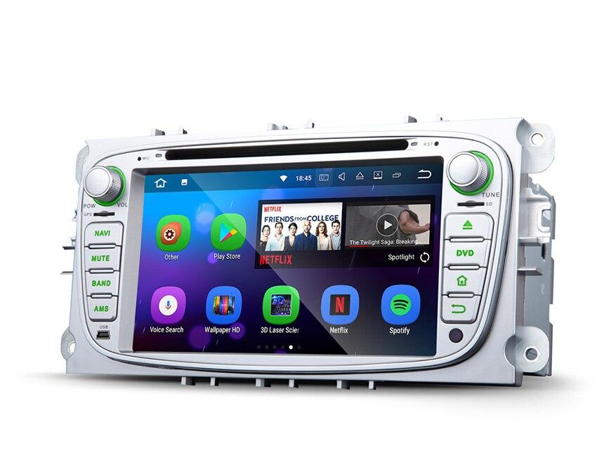 7 ОС Android 7,1 nougat специальный автомобильный DVD для Ford Mondeo 2007 2011 & Focus 2008 2010 & S Max 2008 2010 со встроенным HDMI выходом