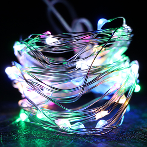 1/2/3/5/10M 10-100 LEDs Fairy lights New Year LED String Light Christmas Garland Silver Wire For Indoor Xmas Wedding Decoration