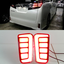 For Toyota Vellfire 2016 2017 2018 ALPHARD Multi-function LED Rear Fog Lamp Bumper Light Auto Brake Light Turn Signal Reflector for hyundai santa fe ix45 2016 2017 sncn multi function car led rear bumper light auto brake light turn signal light reflector