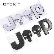 Металлическая хромированная Автомобильная 3D наклейка s 4 Drive эмблема череп значки наклейки для кузова автомобиля аксессуары для Jeep Cherokee Ста...