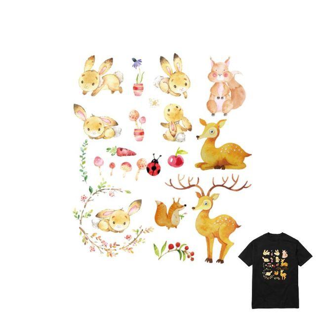 17x20 см новый мультфильм животных железо на уровне Нашивки передачу тепла пирография для DIY Одежда Футболка сумки украшения Печать